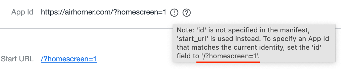 Tooltip showing 'id' value.