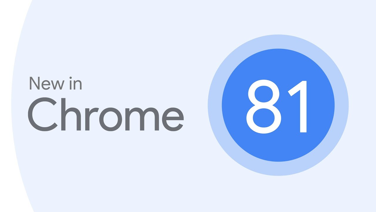 New in Chrome 81