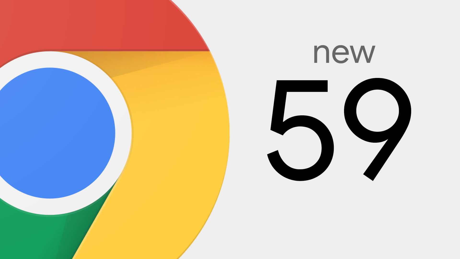 Cropped Chrome logo on the left, version number on the right.