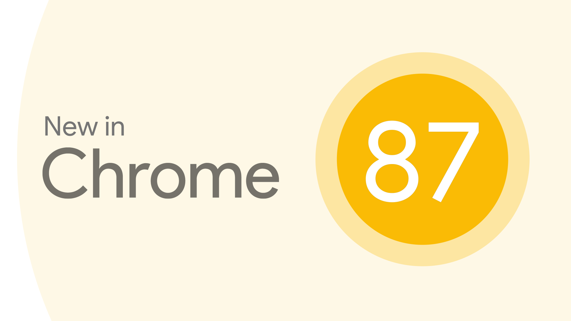 New in Chrome 87