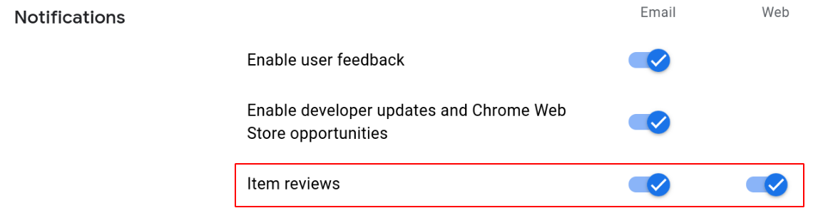 Enable reviews notifications