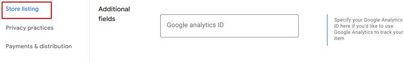 where to add google analytics id