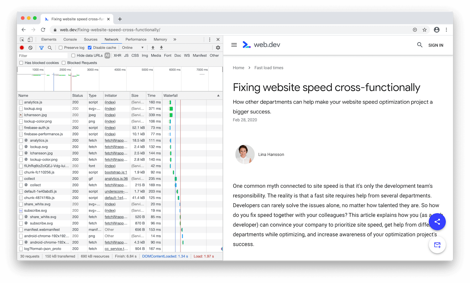 DevTools docked to the left of the viewport