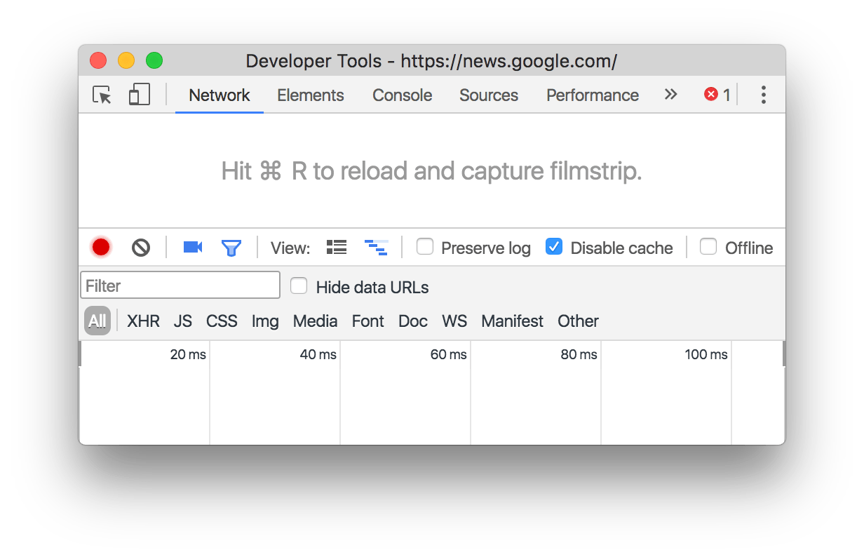A DevTools window with a custom panel tab ordering.