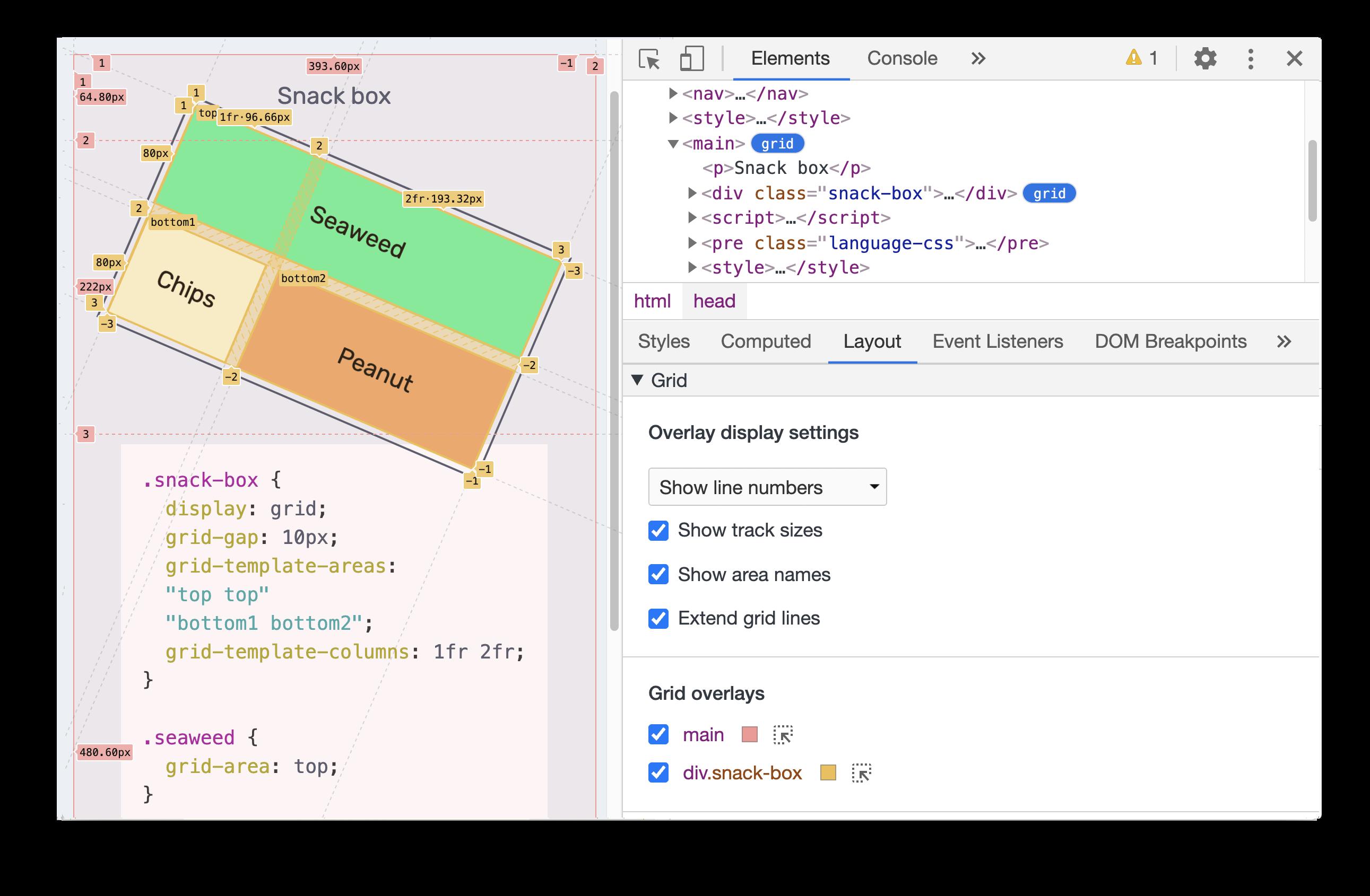 CSS grid debugging