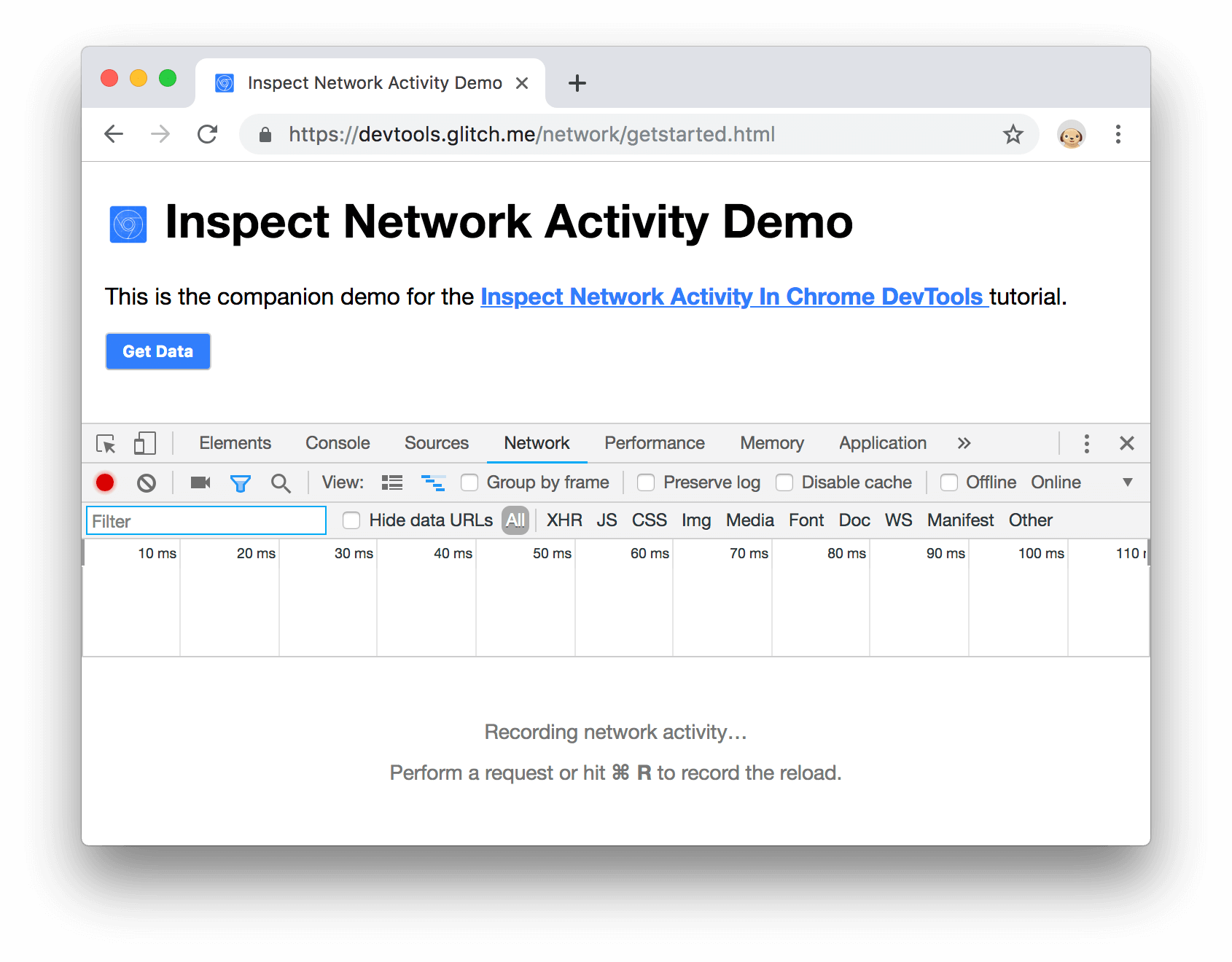 DevTools docked to the bottom of the window