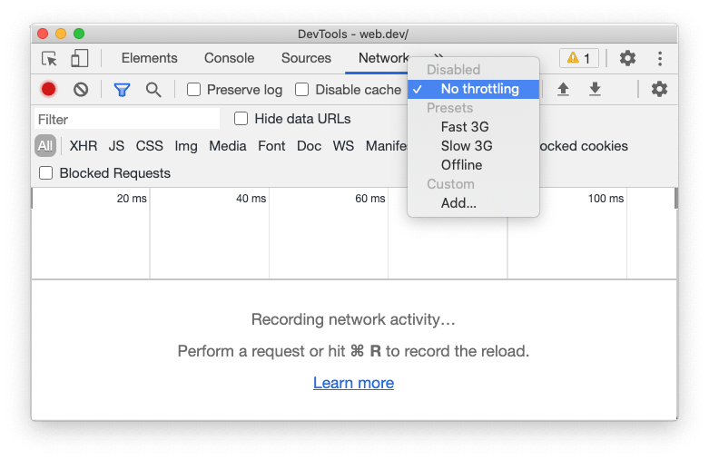 Record network log