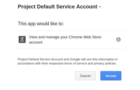 A screenshot of the permission request UI.