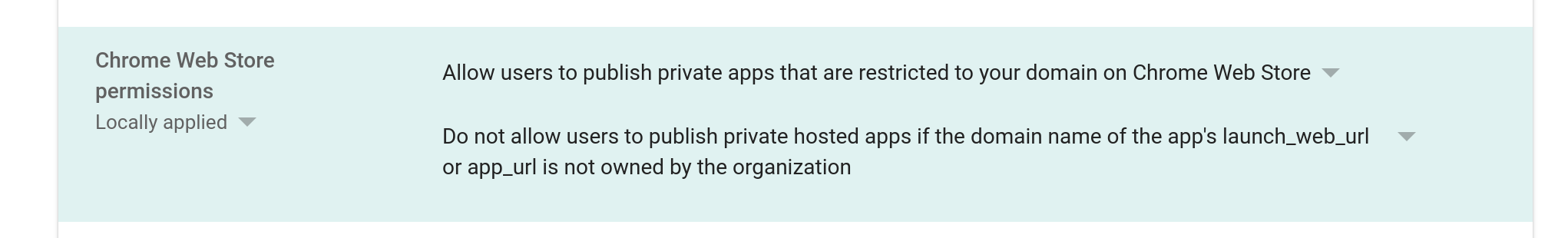 Screenshot of option to enable private domain publishing
