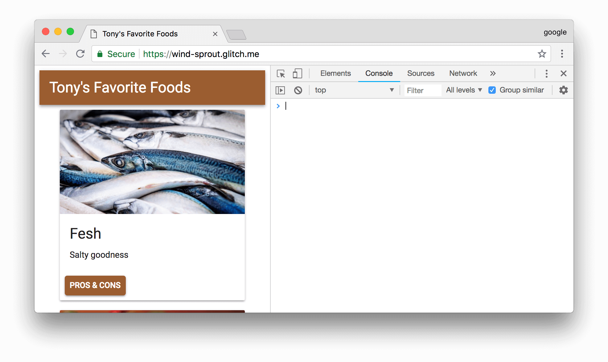 DevTools and the demo.