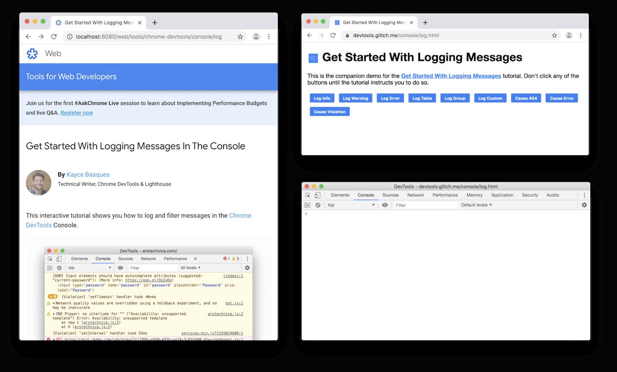 DevTools undocked in a separate window.