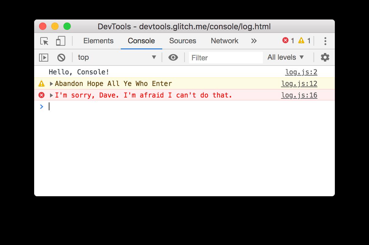 An error message.