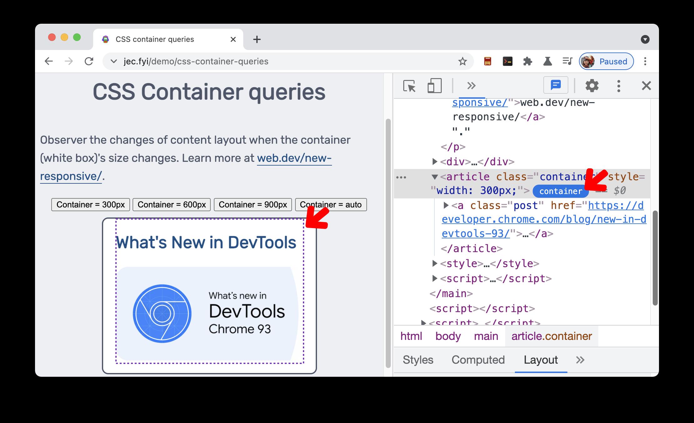 CSS 컨테이너 쿼리 배지