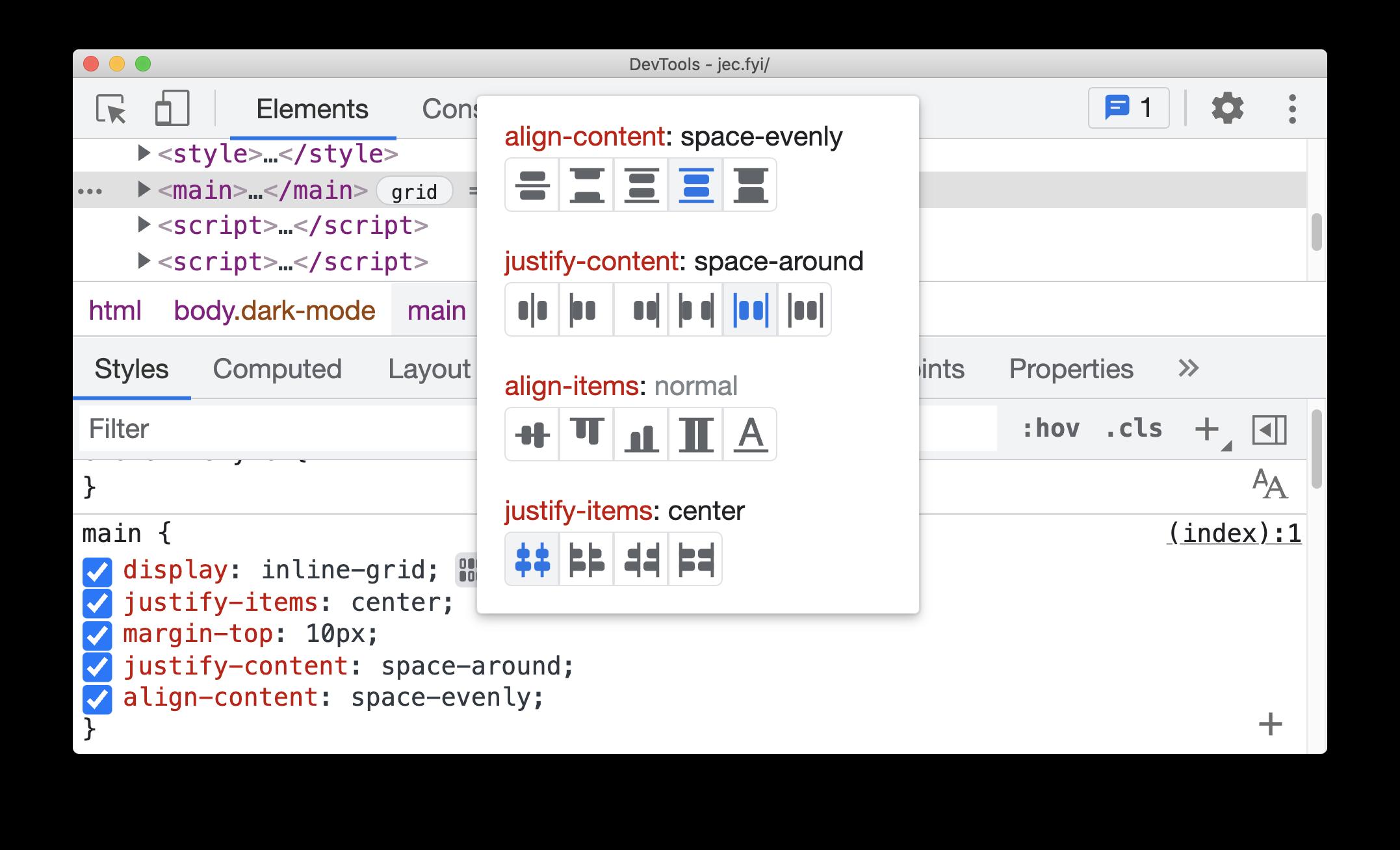 CSS Grid editor