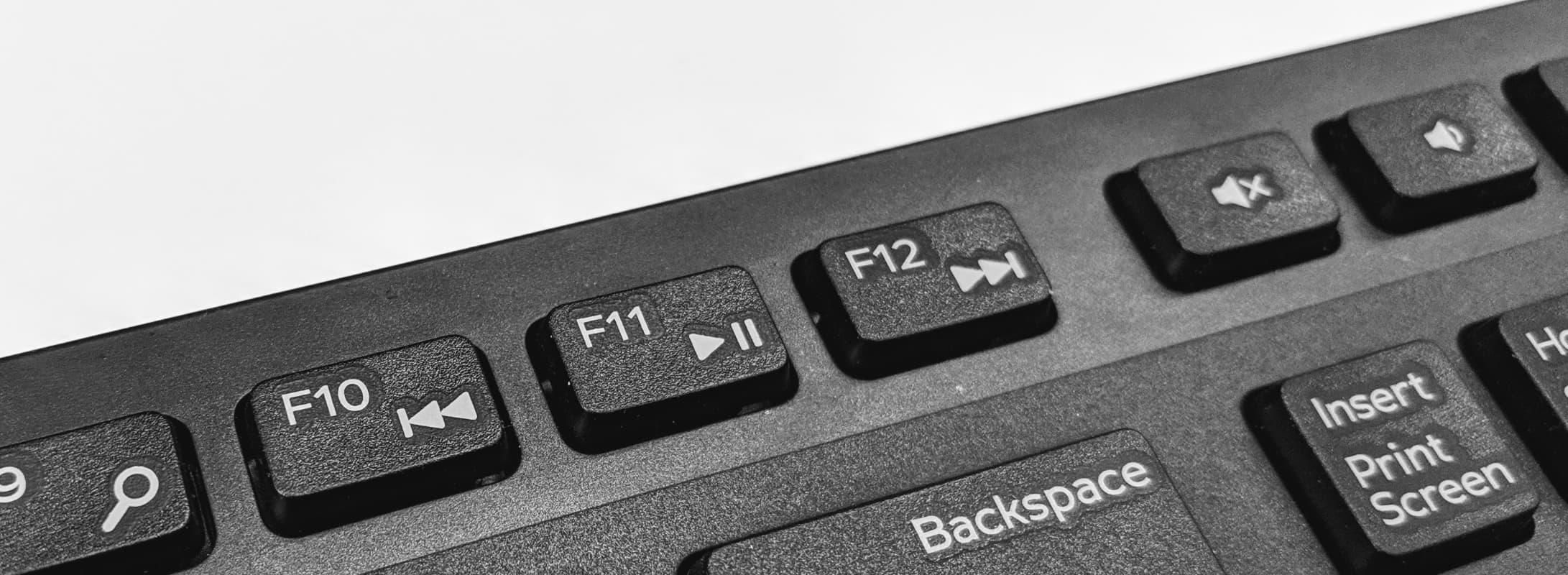 Keyboard media keys